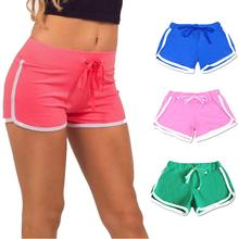 цена New 2019 Women Shorts Contrast Binding Drawstring Waistband Side Split Elastic Waist Silk Slim Beach Casual Short Fashion Shorts в интернет-магазинах
