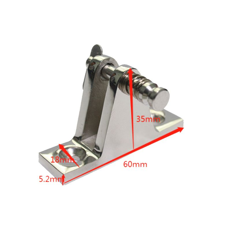 316 Stainless Steel Bimini Boat Top Deck Hinge Fitting Quick Release Marine Rowing Boats Fishing Kayak Canoe Boat Accessories in Marine Hardware from Automobiles Motorcycles