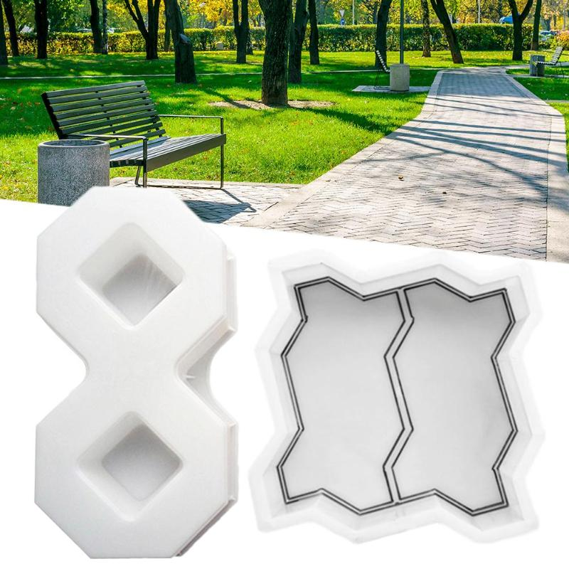 Garden Walk Pavement Mold DIY Manually Paving Cement Brick Stone Road Concrete Molds Path Maker Reusable DIY Garden Tools