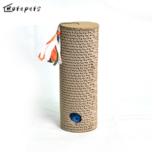 Kitten Cat Scratching Posts Long Rolling Board Corrugated Paper Pad Claw Speaker Bell Cat Pet Toy