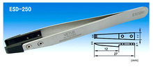 20 unids VETUS ESD-250 antiestático inoxidable pinzas con punta de plástico envío gratis