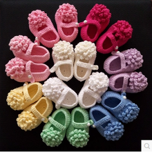 Knit Baby bootie crochet handmade baby girl shoes