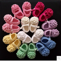 Malha bundinha de Bebê primeira caminhada sapatos de crochê feito à mão sapatos de crochê bebê menina Primavera