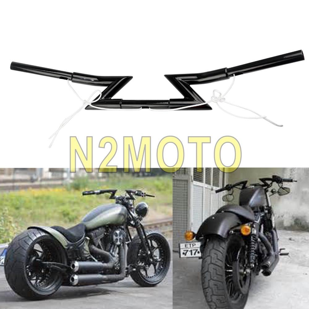Motorcycle Handle Bar In 1 Drag Z Bar Handlebar For Custom Chopper Softail Dyna XL Sportster