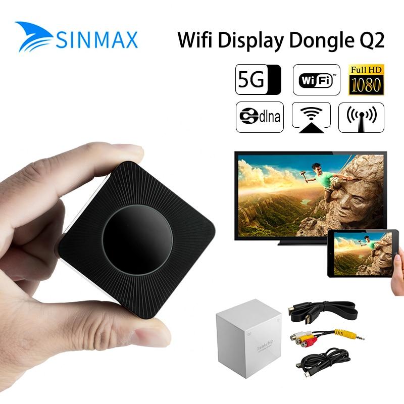 2018, 5,8 Gh Wifi HDMI espejo TV Stick 1080 p anycast Miracast dongle DLNA Airplay WiFi pantalla recibir IOS10 YouTube Chromecast 2