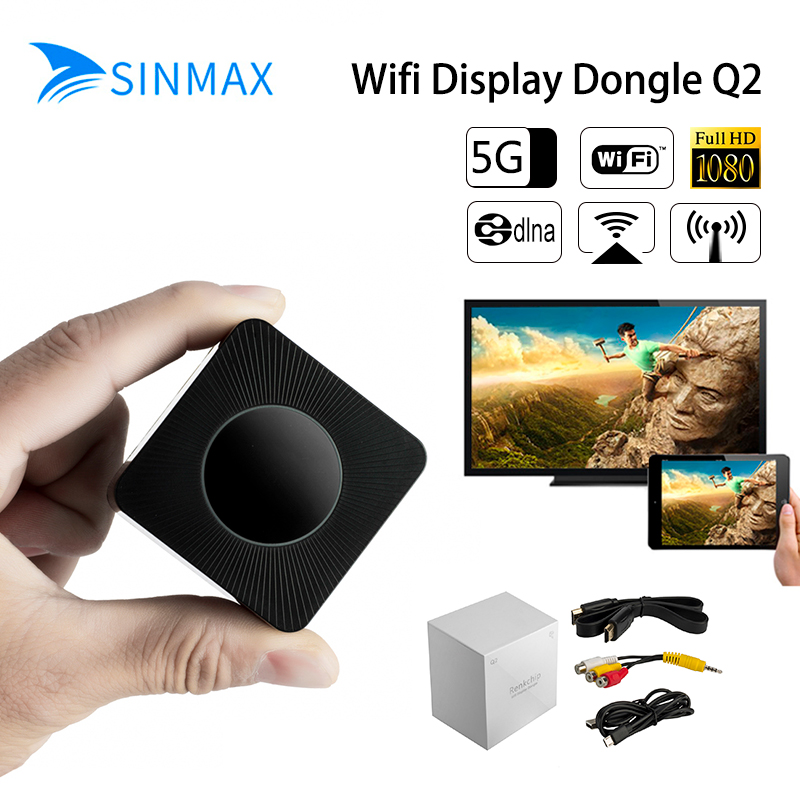 2018 5.8 Gh Wifi HDMI specchio TV Stick 1080 P anycast Miracast dongle DLNA Airplay WiFi Display Ricevere IOS10 YouTube Chromecast 2