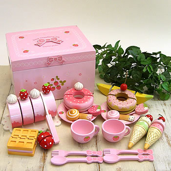 Free Shipping!BabyToys Cute Sweet Cafe Set Pink Bowknot Box Ice Cream Pretend Play Baby Toys gift free shipping kids children role pretend play wooden ice refrige ice cream set kitchen food toys new