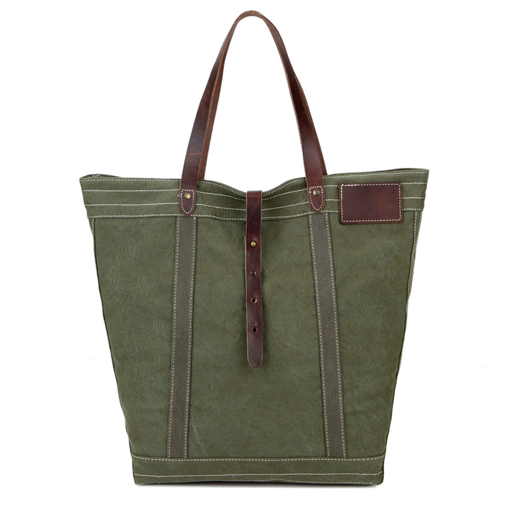 ФОТО High Quality Casual Vintage Men Women Canvas Handbags Fashion Travel Shopping Totes Black Khaki Green Durable Women Shoulder Bag