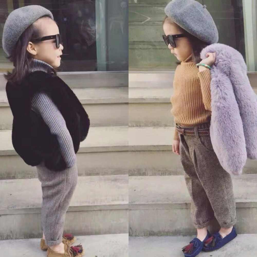 2a0f66f98fd8 Baby Fur Vest New Girl Rabbit Fur Clothes Imitation Fox Fur Coat Kids Warm  Vest Waistcoat Children Winter Jacke Faux Fur Coat
