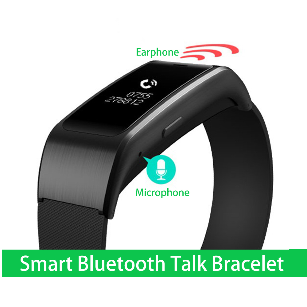 Smart Wristbands A96 Smart Bluetooth Talk Bracelet Bluetooth Speaker Earphone for IOS Android Smartphones Sleep Fitness
