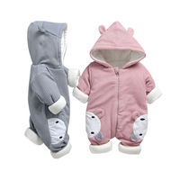 Autumn Spring Baby Outerwear Child Coat Girl Coverall Rabbit ears Fashion Romper Kids Winter Jumpsuit Newborn