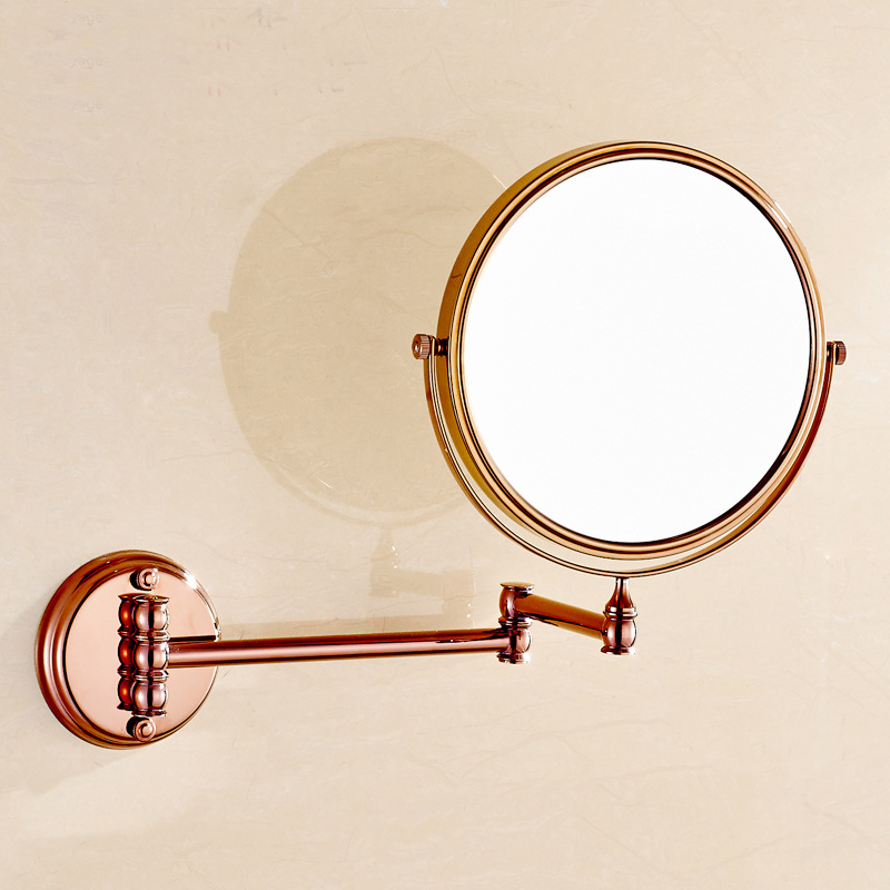 AUSWIND European Style Wall Hanging Type Double-sided Ultra-thin Rose Gold Plated Chrome Mirror Bathroom Mirror Amplifier 1unit column a4 double sided gallery hanging systems wire hanging picture hanging systems for agent hotel retail store