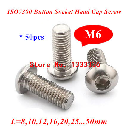 M5 Stainless Socket Button Head 5mm Mushroom//Round Head Bolts x100 mixed lengths