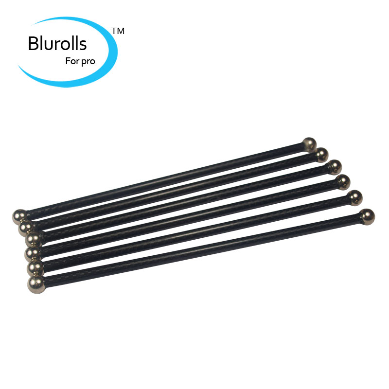 Reprap Kossel delta K800 3D printer magnetic Diagonal push rods kit end Rods Arms kit/set 180mm Carbon tube assembled rod kit