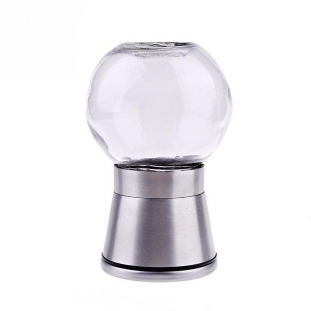 Cooking Tools 1PCS Stainless Steel Glass Pepper Mill Standard Spice Salt Pepper Grinder