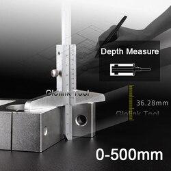 Vernier Caliper Depth 0-500mm/0.02mm Carbon Steel Metric Rule Gauge Micrometer Measure Tools With Storage Box