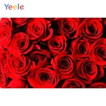 Yeele Bright Red Rose Flowers Fashion Show Wedding Photography Backgrounds Personalized Photographic Backdrops For Photo Studio