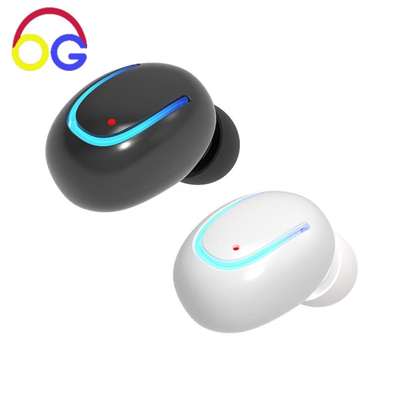 OGV Q13 mono pequeño solo auricular oculto auricular invisible micro - Audio y video portátil