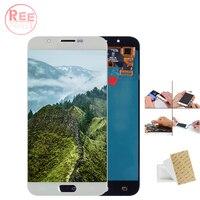 Оригинальный 5,7 Super AMOLED Дисплей для SAMSUNG Galaxy A8 ЖК дисплей Дисплей A8000 A800 A800F Сенсорный экран планшета Запчасти для авто