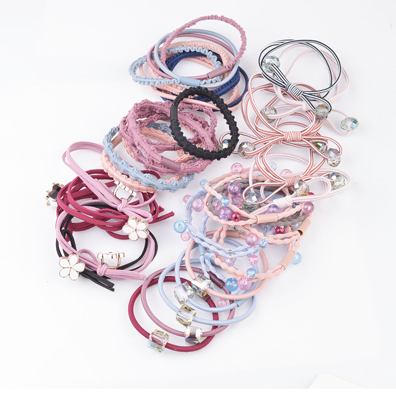 Girl's Hair Accessories Hearty 5pcs/lot Multicolor Beads Hair Holders Rubber Bands Elastics Girl Women Ponytail Tie Gum Fashion Hair Accessories Hair Rope A8 Cleaning The Oral Cavity. Girl's Accessories