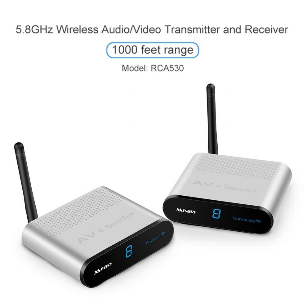 Émetteur et récepteur Audio vidéo sans fil AV VCD 5.8GHZ avec télécommande 300 mètres RCA530 pour la Transmission de moniteur STB