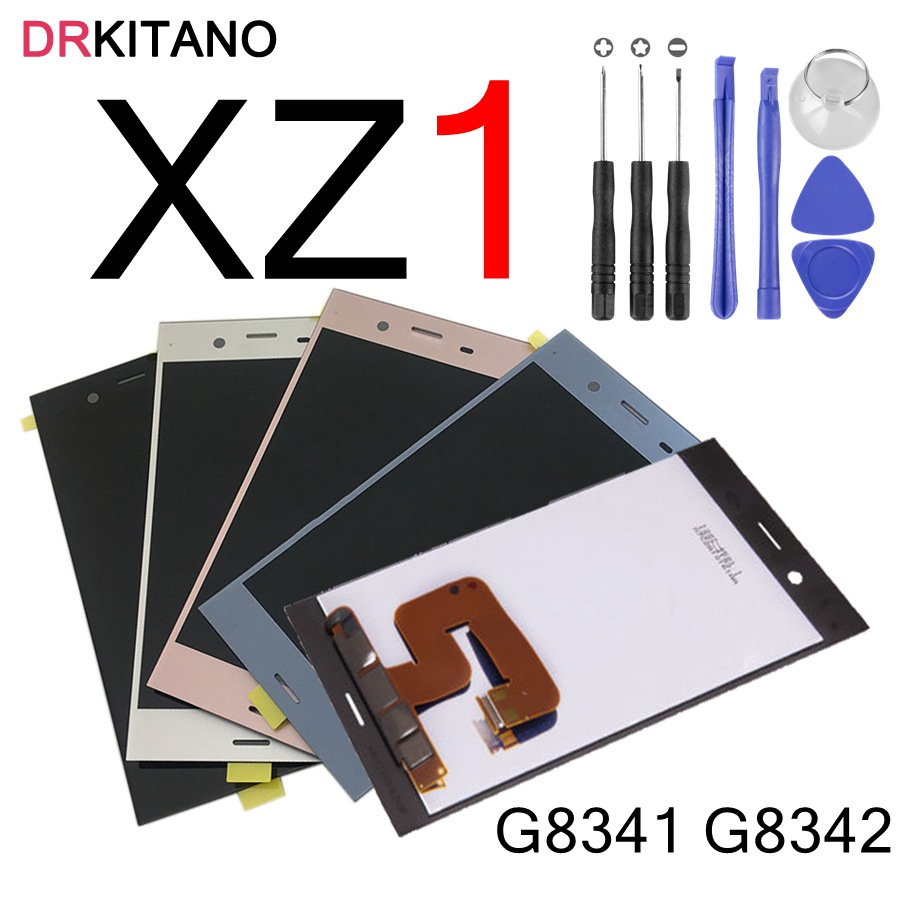 For 5 2 Sony XZ1 Display Touch Screen Digitizer Assembly For SONY Xperia XZ1 LCD G8341