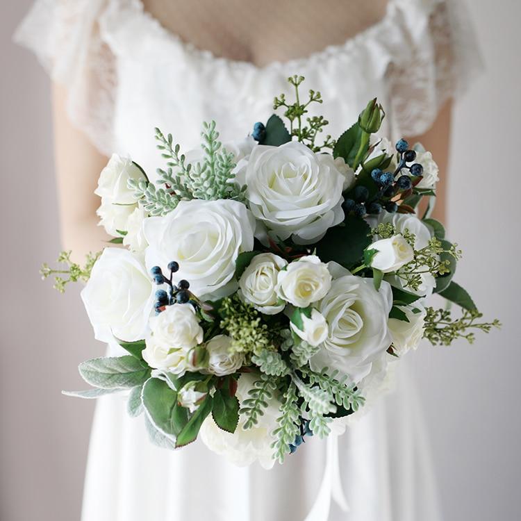 New Arrival 2018 Hot Wedding Bouquet Succulent Plants Green Artificial Bridal Bouquets Women bouquet de mariage