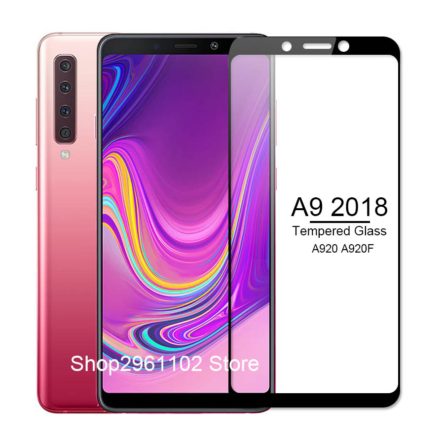 for samsung galaxy a 9 2018 case cover tempered glass for samsung a9 2018 protective glass on the galax a92018 a920 a920f film-in Phone Screen Protectors from Cellphones & Telecommunications