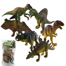 Assorted 6pcs set of simulation dinosaur models kids educational toy P2602 6