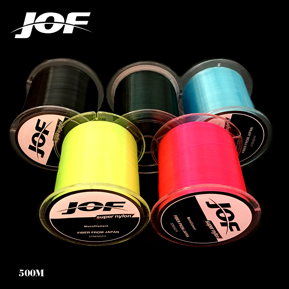 2pc 500m Super Strong Daiwa jof Nylon Fishing Line 4.4LB - 28.6LB 7 Colors Japan Monofilament Main Line with Plastic Box