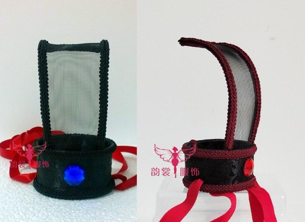 2 Designs Blau Rot Netto Männlichen Hut Haar Tiara Hanfu Zubehör Alte Chinesische Swordmen Childe Haar Tiara Lange Lebensdauer