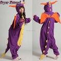 Супер Природных SAZAC Взрослых Зима Shiryu Фиолетовый Spyro Дракон Рождество Динозавров Дешевые Пижамы Onesies Пижамы Косплей Костюм