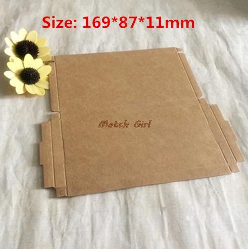 50pcs/lot-16.9*8.7*1.1cm Brown Carton Kraft Box, Kraft Packaigng Paper, Storage Boxes for Phone Soap Gift Jewelry