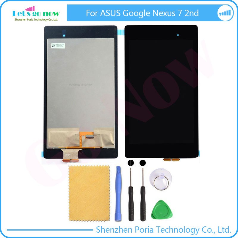 New LCD Display Monitor+Touch Panel Screen Digitizer Glass Assembly Original Replacement For ASUS Google Nexus 7 2nd ME571K