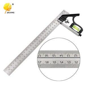 Angle Square Measuring Tools Set Precise Stainless Steel Aluminium Durable Adjustable Combination Spirit Level 12