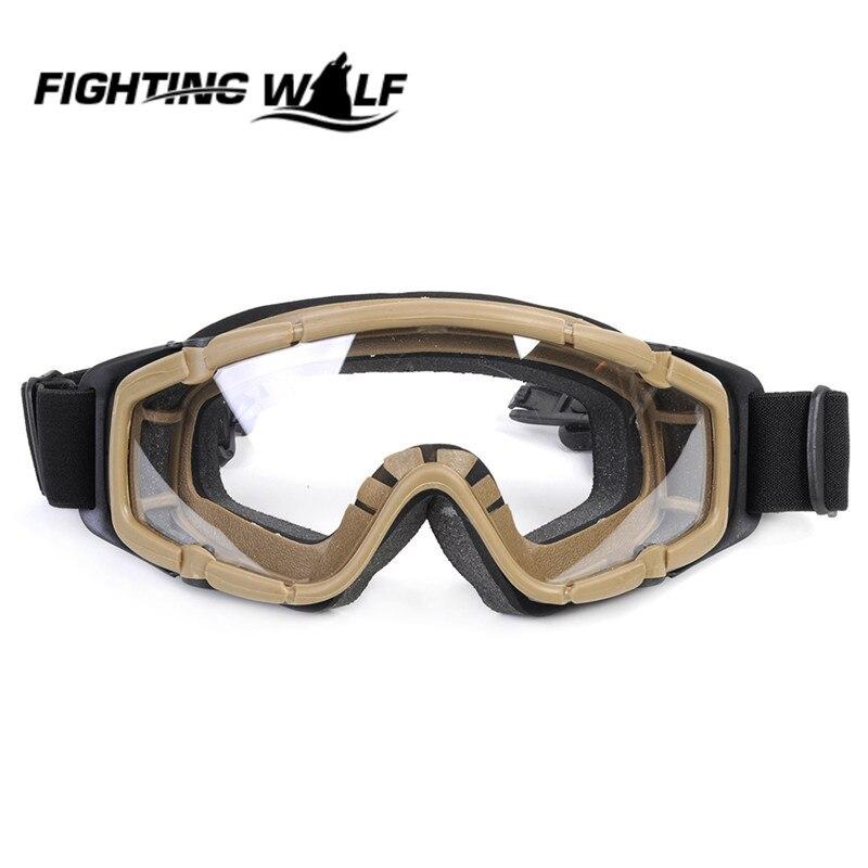 Цена за FMA Airsoft Тактический Пейнтбол Игры Очки Goggle 2 шт. Объектива для Шлем с Боковыми Ограждениями Мотоцикл Гонки Велоспорт Очки