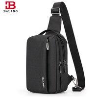 BALANG Men S Travel Functional Multilayer Bag Messenger Bag Modern Oxford Waterproof Chest Pack Multipurpose Shoulder