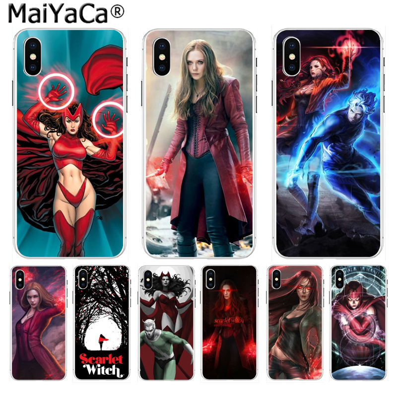 sports shoes 83d60 23385 MaiYaCa Scarlet Witch Avengers x-men 2018 Hot Selling Fashion phone case  for Apple iPhone 8 7 6 6S Plus X 5 5S SE XR XS XS MAX