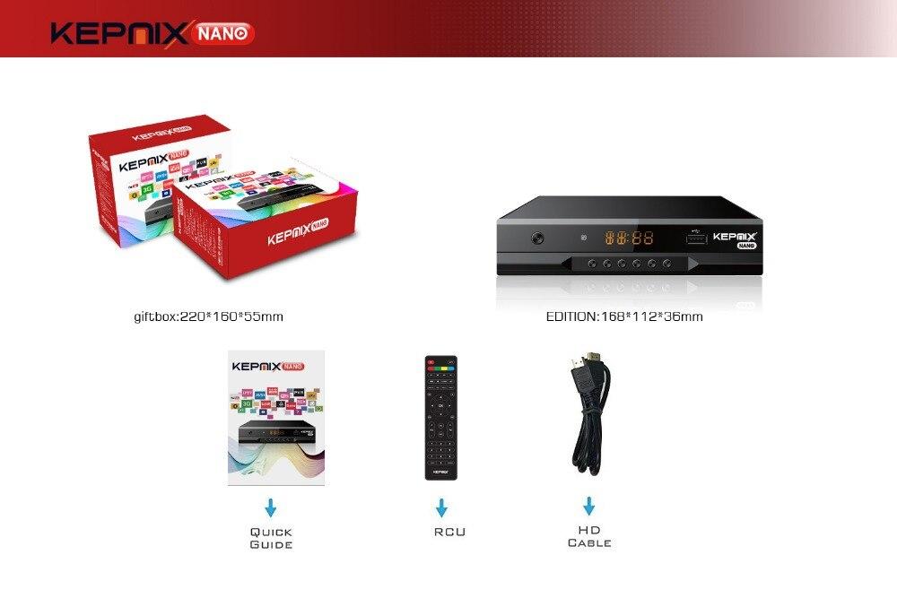 Kepnix nano 50pcs iptv m3u xtream metal case Satellite Receiver Support  PowerVu autoroll avs+ Biss ccam Youtube Wifi 2XUSB AV