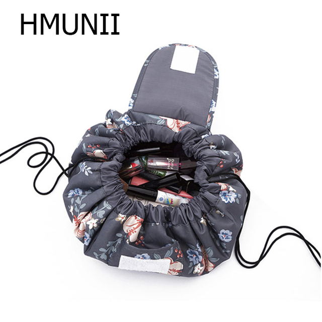 48278b79dc2e US $7.87  HMUNII Creative Lazy Cosmetic Bag Large Capacity Portable  Drawstring Storage Artifact Magic Travel Pouch Simple Cosmetic Bag-in  Cosmetic ...