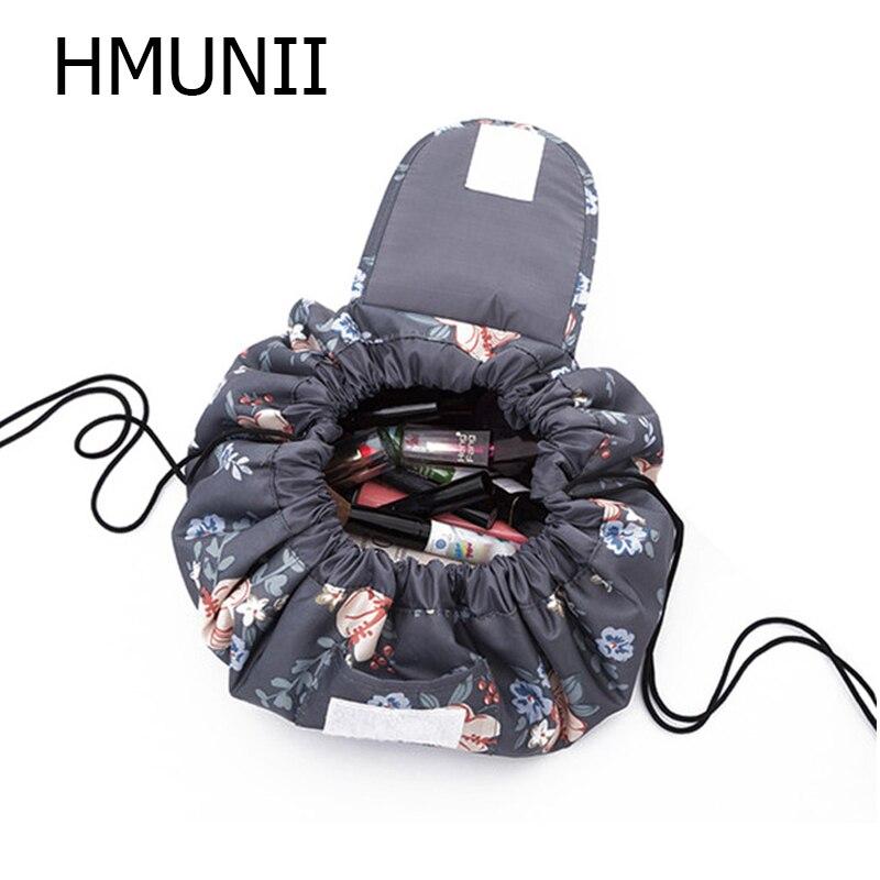 HMUNII Kreative Faul Kosmetik Tasche Große Kapazität Tragbare Kordelzug Lagerung Artefakt Magie Travel Pouch Einfache Kosmetik Tasche