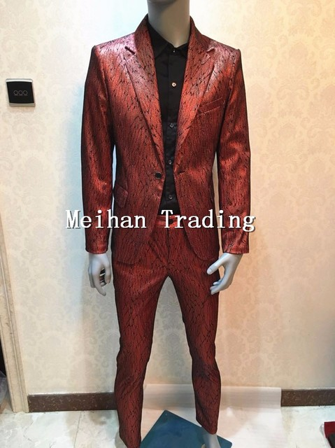 Customized Plus Size S-4XL Blazer Bright Sequins Suits Set Costume Singer Dance Prom Stage Wear Nightclub Jacket Blazer Pants