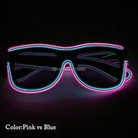 Venta Producto Popular 2020 Gafas EL Wire con Cristales oscuros de doble iluminación gafas de 20