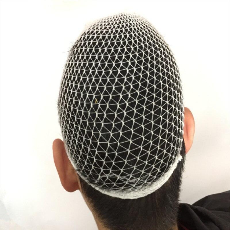20 Pcs/lot White Medical Elastic Contraction Enlarge Mesh Bandage Hats Surgical Fixed Bandage Wound Dressing Caps