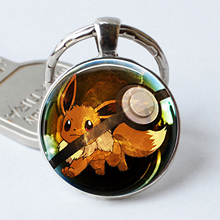 Pokemon Silver Plated Charmander Keychain