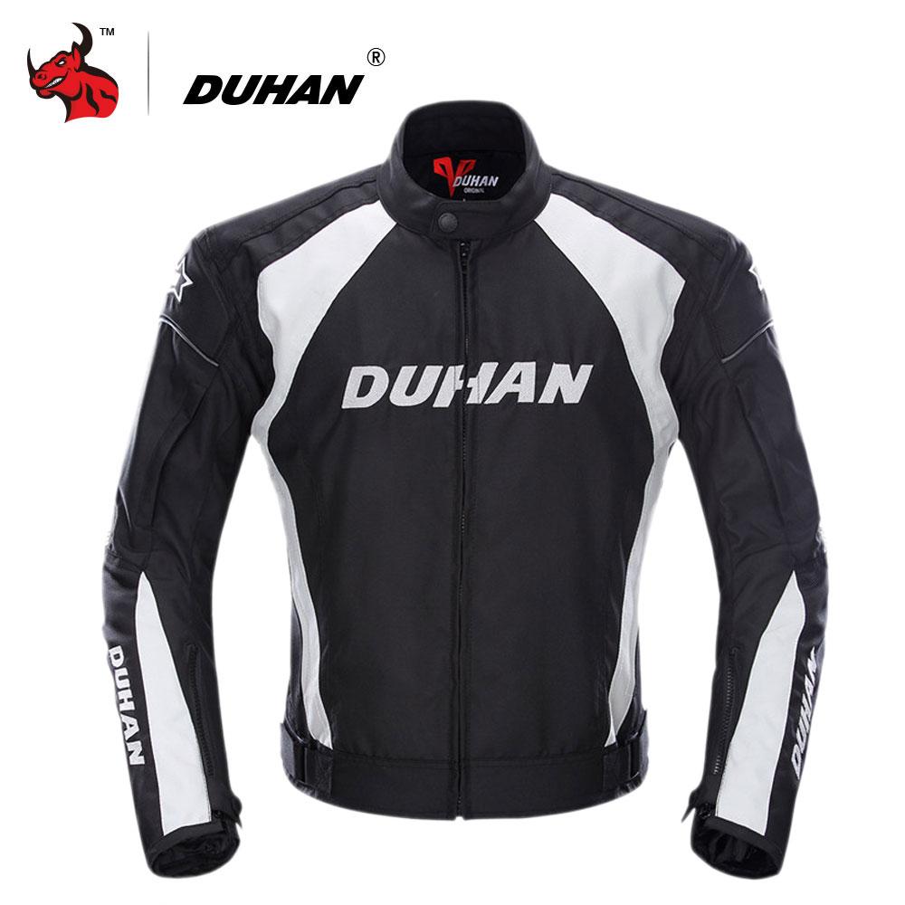 DUHAN Jaket Motor Pria Tahan Angin Moto Motocross Jaket Pakaian Alat Pelindung Dengan Lima Pelindung Pengawal Jaket Motor