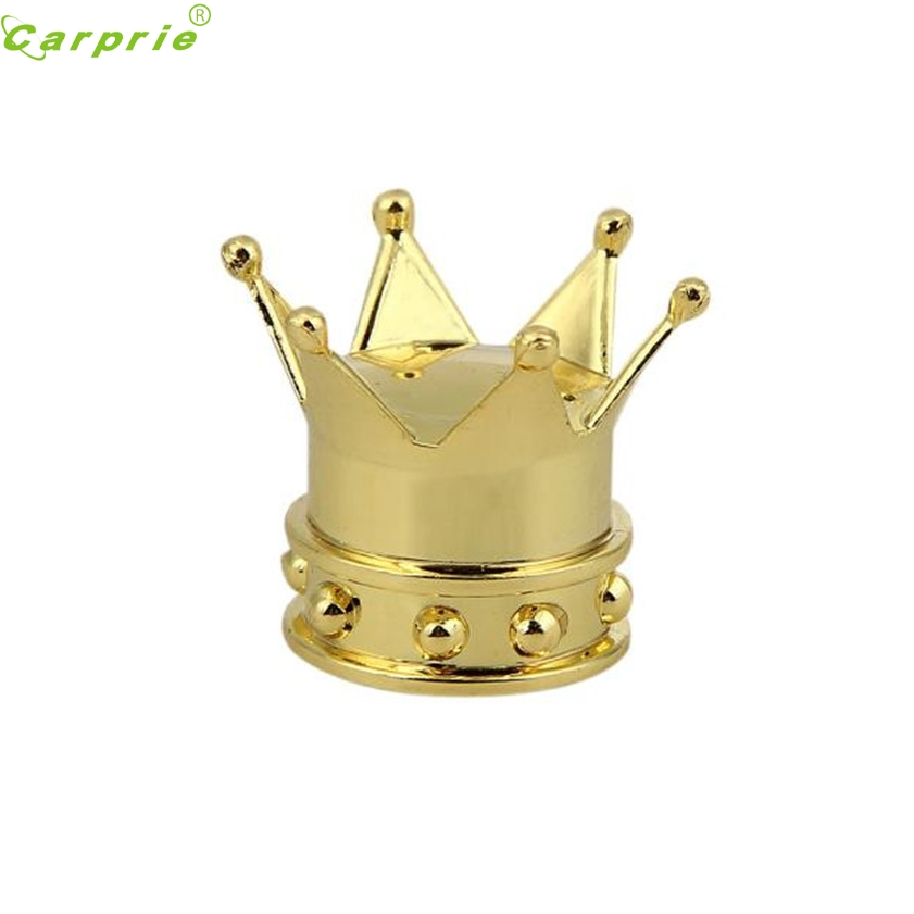 High Quality Car Golden Crown Tyre Tire Wheel Valve Stems Air Dust Cover Cap For Mazda Subaru Durable Modeling