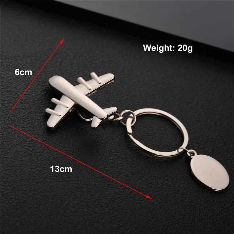 Mini modelo de avión llavero de Metal llave de vuelo anillo colgante llavero regalos avión coche llave cadena clásico clave Dropshipp