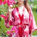 Новые Поступления Винтаж Халаты Печати Кимоно Цветочные Халат Моды Пижамы Халат Пеньюар Свадебное Халаты Невесты Халаты # H143