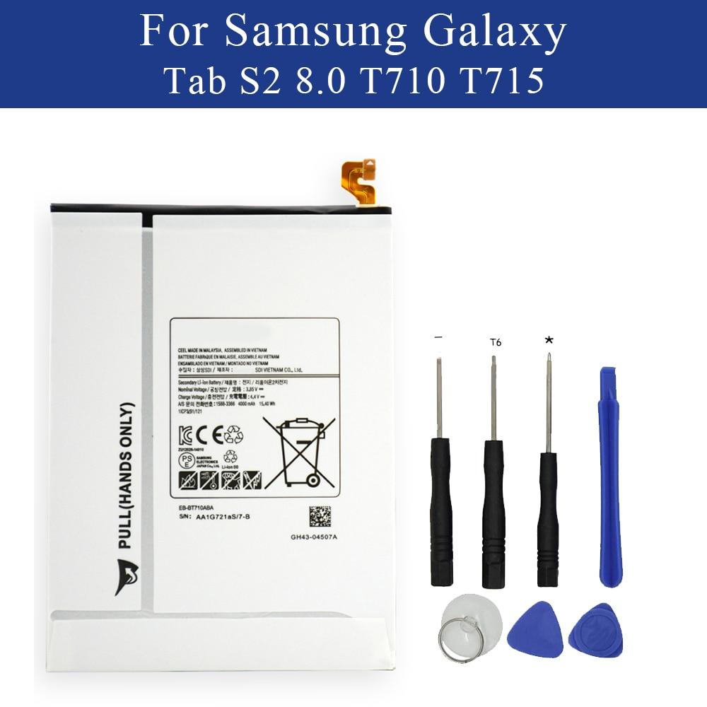 Nouveau tablette batterie EB-BT710ABE pour Samsung Galaxy Tab S2 8.0 SM-T710 T715 T715C T719C T815 4000 mAh + kit doutilsNouveau tablette batterie EB-BT710ABE pour Samsung Galaxy Tab S2 8.0 SM-T710 T715 T715C T719C T815 4000 mAh + kit doutils